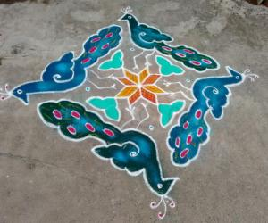 Rangoli: Neighbour 's kolam