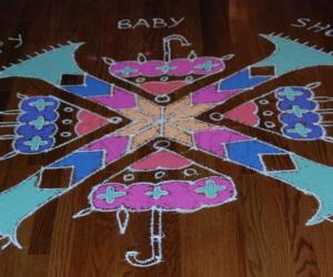 Rangoli: Baby shower Kolam