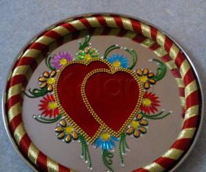 Rangoli: decorative arathi plate