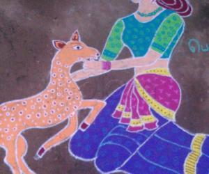 Girl With Deer