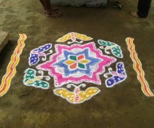Rangoli: Colourful Butterflies
