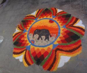 Rangoli: republic day rangoli 2013