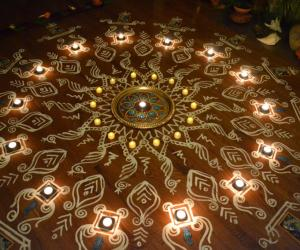 Maa Kolam incorporating Kalamkari designs - 2013