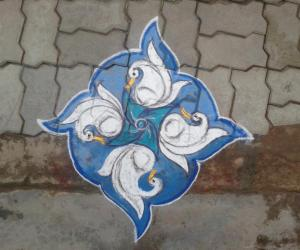 a simple dotted rangoli