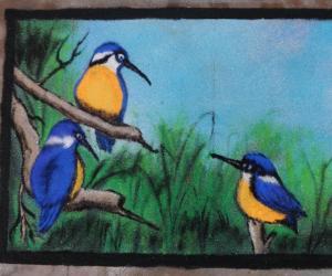 Rangoli: birds