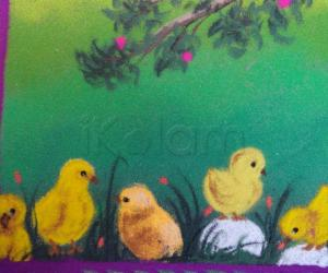 Rangoli: chicks