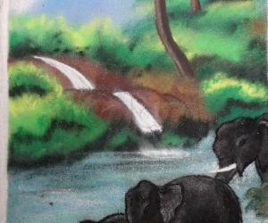 Rangoli: elephant