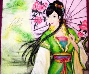 Rangoli: Japanese Lady