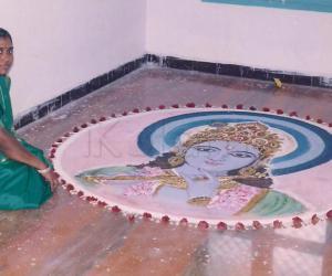 lord krishna rangoli