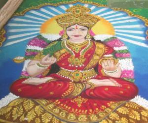 Rangoli: Goddess Annapurani