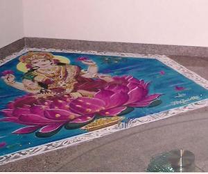 Rangoli: Goddess Lakshmi