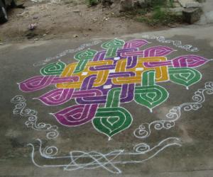 Rangoli: Sankrathi kolam
