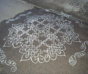 Rangoli: Varalakshmi Vratham kolam