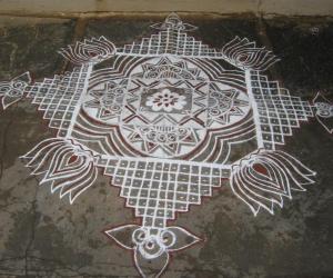 Rangoli: Ganesh chaturthi 2013
