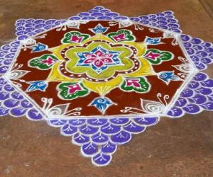 Rangoli: Margazhli Rangoli on Hanuman Jayanthi