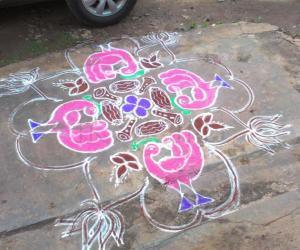 Rangoli: saraswathi pooja rangoli