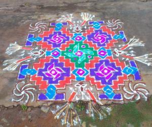 Rangoli: deepavalli rangoli