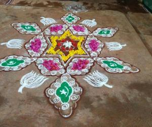 Rangoli: Eid Mubarak and Happy Onam!