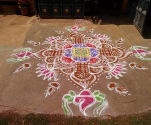 Vaikunta Ekadasi Rangoli