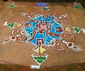 Rangoli: Ganesh chathurthi rangoli 2015