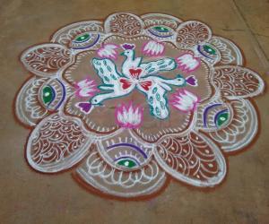Navarathri Rangoli Day 7 - 2015