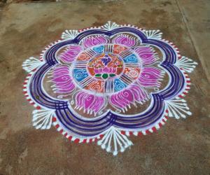 Margazhli day 3(vaikunta ekadasi rangoli)