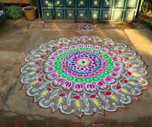Ganesh Chaturthi special rangoli 2015