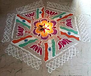 Rangoli: Independence day rangoli