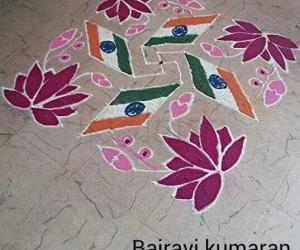 Independence day rangoli