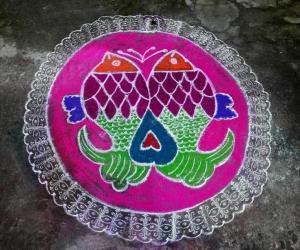 Rangoli: Margazhi kolam 12-01-2017