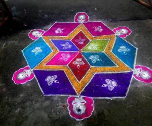 Rangoli: Margazhi kolam  08-01-2017