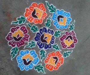 Rangoli: Dotted Rangoli-1