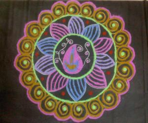 Coloured rangoli