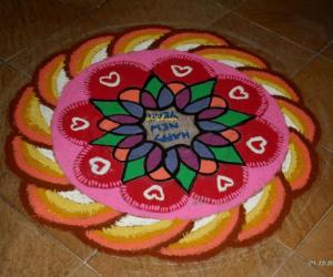 New Year Rangoli