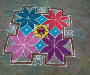 Rangoli: color kolam
