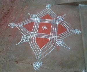 Traditional rangoli