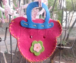 Handstiched Teddy bag