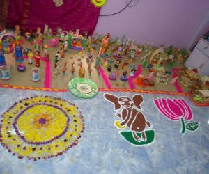 Rangoli: golu with rangoli