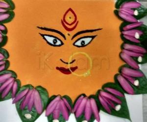Rangoli: Mala Durga