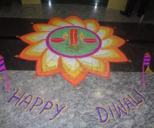 Diwali - 2014 Rangoli - in my office