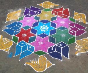 Rangoli: purattasi maadham padayal