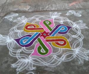 Holi Rangoli