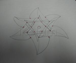 Paper version of star kolam