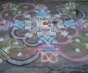 Aadi 5th Friday Kolam