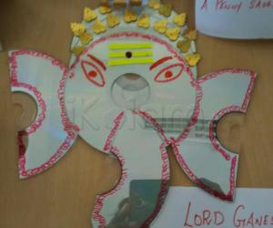 Art from waste-Lord ganesha