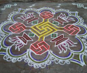 Rangoli: Vasant Navaratri Day6