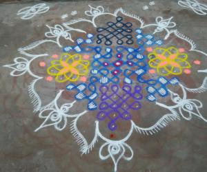 Relay game rangoli
