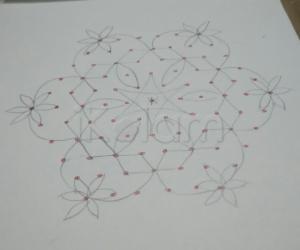 Paper version of star rangoli