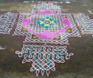 Rangoli: margazhi day 24
