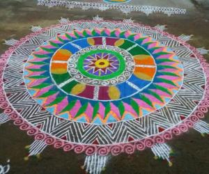 Rangoli: Happy Pongal friends